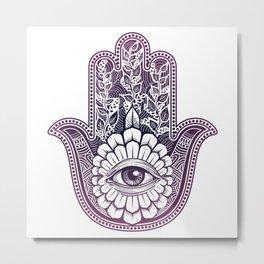 Hamsa, hand of fatima Metal Print