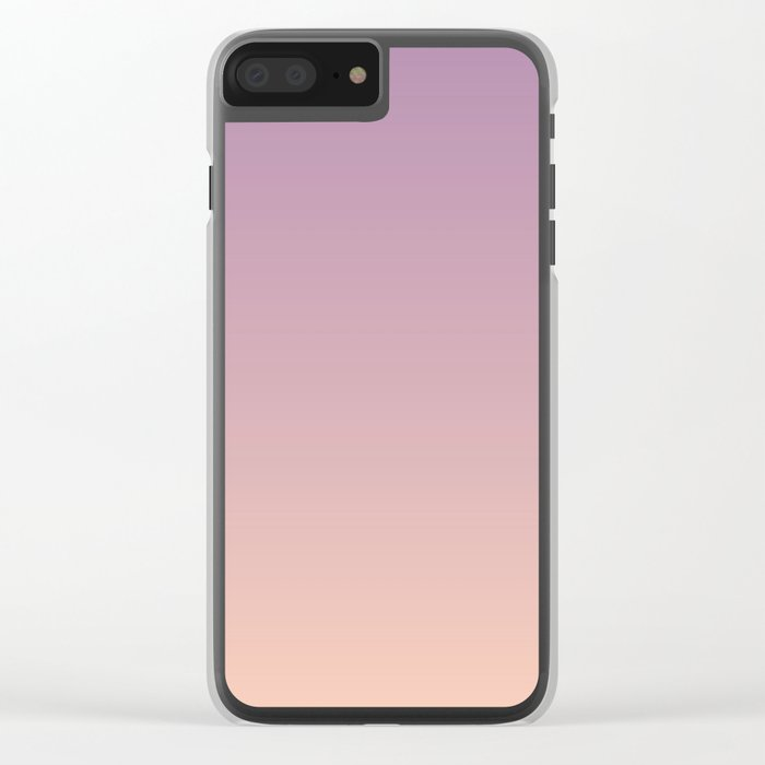 Sunset Gradient Purple Pink Peach Coral Clear iPhone Case