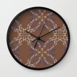 Pattern brown decoration Wall Clock