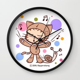 Cyber Kitty Ppyorotong Wall Clock