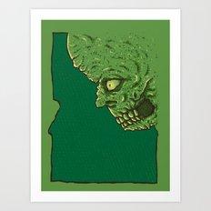 Idaho zombie Art Print