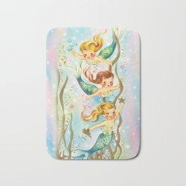 Mermaids Pastel Sparkles Bath Mat
