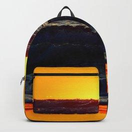 Sea and Sand of Orange Backpack