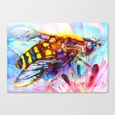 Bee Color-indulged Version Canvas Print