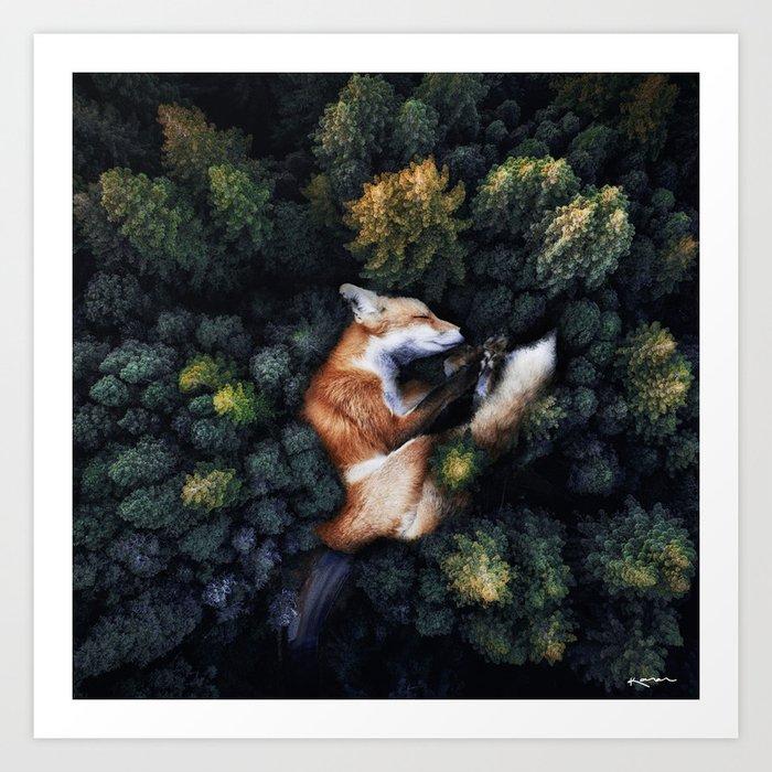 nature hugs. Art Print