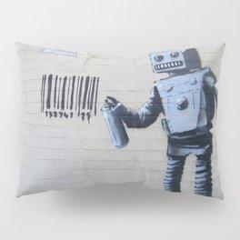 Banksy Robot (Coney Island, NYC) Pillow Sham