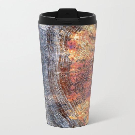 Macro Tree Stump Ring Metal Travel Mug