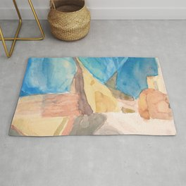 String Instruments and Books Rug