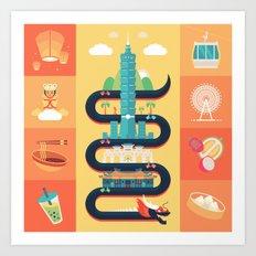 Taipei Taiwan Art Print