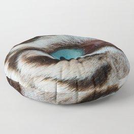 WHITE TIGER BEAUTY Floor Pillow