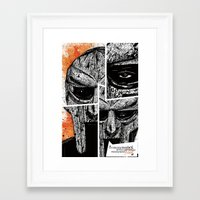 mf doom Framed Art Prints featuring MF Doom by Crooked Octopus