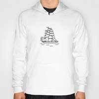 ships Hoodies featuring Ships Ahoy! by CaptainChrisP