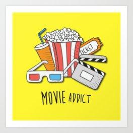 Movie Addict Art Print