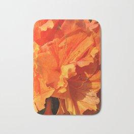 Orange Azaleas Bath Mat