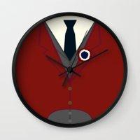 enjolras Wall Clocks featuring Enjolras by KittenBlaine