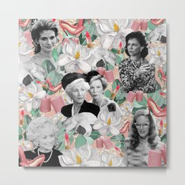 Steel Magnolias Movie Collage Southern Charm Metal Print
