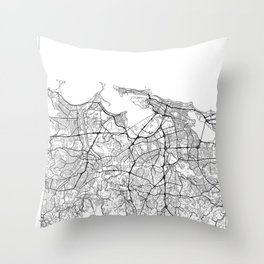 San Juan Map White Throw Pillow