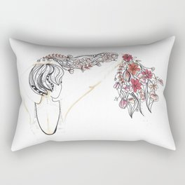 rose shower Rectangular Pillow