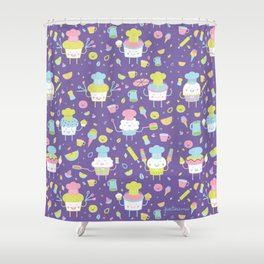 Tiny Chefs Shower Curtain
