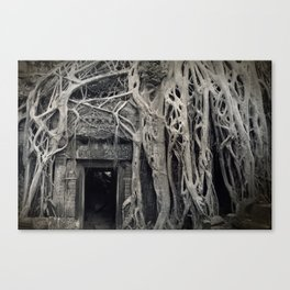 Roots of Ta Prohm, Angkor Canvas Print