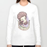 marie antoinette Long Sleeve T-shirts featuring marie antoinette by Misha Mew