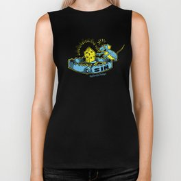 Sin Trap - Blue and Yellow Biker Tank