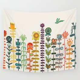 Happy garden Wall Tapestry