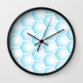 Blue Bubble Hexagon Wall Clock
