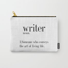 Funny Definition Of Writer Funny Quote Funny Wall Art Printable Typography Print Gift For Writer Carry-All Pouch