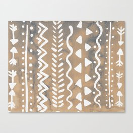 Loose boho chic pattern - neutral Canvas Print