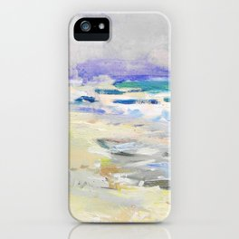 oil sea painting iPhone Case