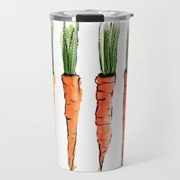 Happy colorful carrots Travel Mug
