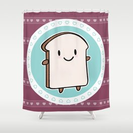 Happy Bread Slice Shower Curtain