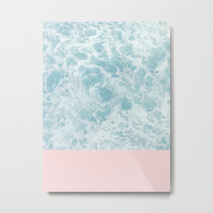 Pink on the Sea Metal Print