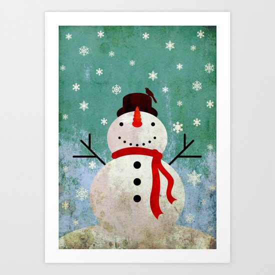 snowpy christmas Art Print