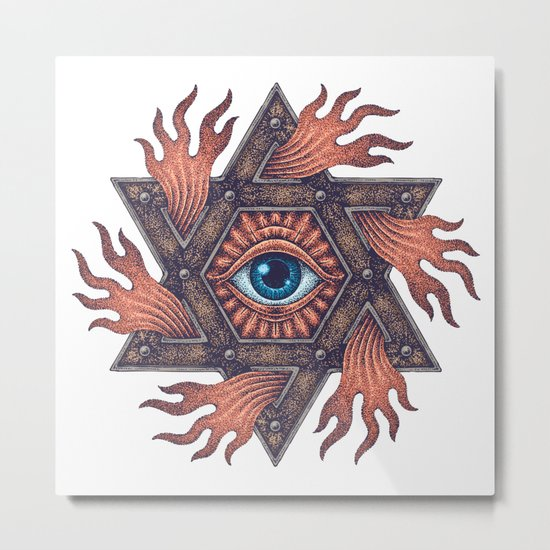 Inner gods Collection/01-rising star Metal Print