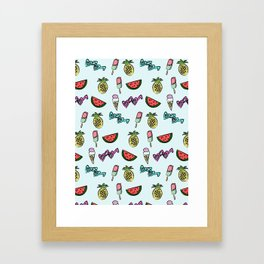 summer fun Framed Art Print