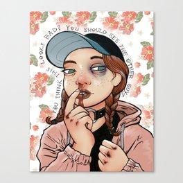 Fist Fight Canvas Print