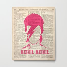 David Bowie - rebel rebel on dictionary page Metal Print