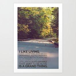 I like living - agatha christie Art Print