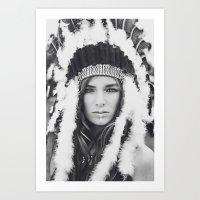 navajo Art Prints featuring Navajo by Jamie de Leeuw