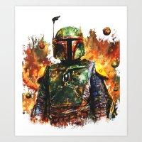 boba fett Art Prints featuring Boba Fett by ururuty