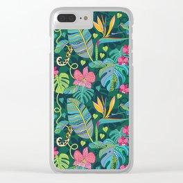 Bohemian Tropics Clear iPhone Case