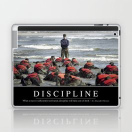Discipline: Inspirational Quote and Motivational Poster Laptop & iPad Skin