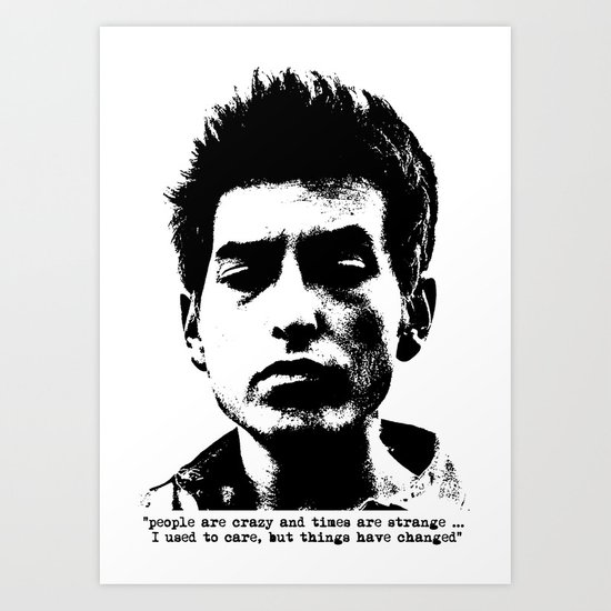 Bob Dylan Things Have Changed Art Print