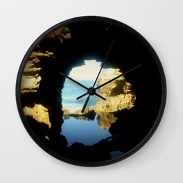 Inside looking Out to the Great Southern Ocean Wall Clock