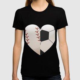 Soccer Baseball Heart Mom - Mothers Day Gifts T-shirt