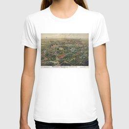 Vintage Nashville Centennial Park Map (1897) T-shirt