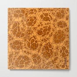 Microscopic cells - shade of yellow Metal Print
