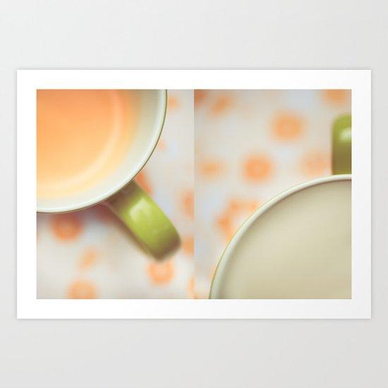 Opposites Love - Coffee Art Print